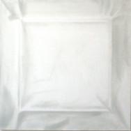 Faltenbild 2-13, 2013. Öl auf Leinwand, 100 x 100 cm.
