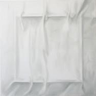 Faltenbild 5-13, 2013. Öl auf Leinwand, 100 x 100 cm.