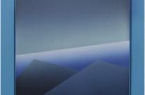 Horizont 7-02, 2002.  Acryl auf Leinwand, 50 x 50 cm.