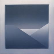 Horizont 2-02, 2002.  Acryl auf Leinwand, 50 x 50 cm.