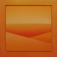 Horizont 5-02, 2002.  Acryl auf Leinwand, 50 x 50 cm.