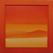 Horizont 6-02, 2002.  Acryl auf Leinwand, 50 x 50 cm.