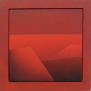 Horizont 8-02, 2002.  Acryl auf Leinwand, 50 x 50 cm.