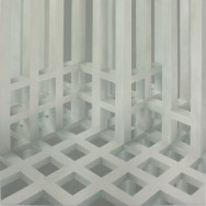 Raumbild 4-06, 2006. Öl auf Leinwand, 200 x 200 cm.