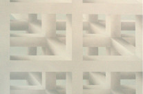 Raumbild 4-02, 2002. Öl auf Leinwand, 200 x 200 cm.