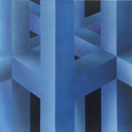 Raumbild 3-03, 2003. Öl auf Leinwand, 80 x 80 cm.