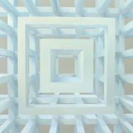 Raumbild 5-04, 2004. Öl auf Leinwand, 120 x 120 cm.