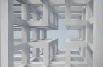 Raumbild 4-04, 2004. Öl auf Leinwand, 120 x 120 cm.