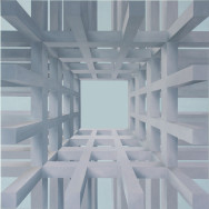 Raumbild 3-04, 2004. Öl auf Leinwand, 120 x 120 cm.