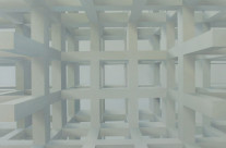 Raumbild 2-04, 2004. Öl auf Leinwand, 120 x 120 cm.