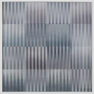 vibration 1.15, 2015. Acryl auf Holz und Gaze, 100 x 100 cm