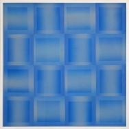vibration 10.15. Acryl auf Holz und Gaze, 100 x 100 cm