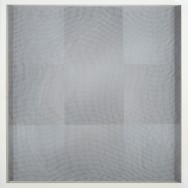 vibration 5.15, 2015. Acryl auf Holz und Gaze, 50 x 50 cm