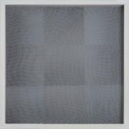 vibration 7.15, 2015. Acryl auf Holz und Gaze, 50 x 50 cm